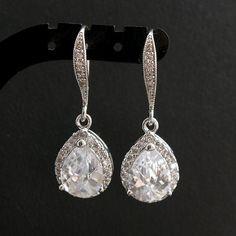 Hochzeit Schmuck Hochzeit Ohrringe Braut Ohrringe von poetryjewelry, $38.00