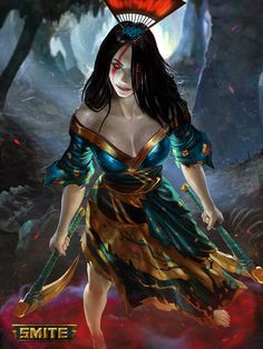 Izanami - Mastery Skin - Smite by jaggudada on DeviantArt Fantasy Women, Dark Fantasy Art, Fantasy Girl, Fantasy Characters, Female Characters, Vampires, Character Art, Character Design, Character Concept