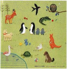 Embroidery, animals, story-telling