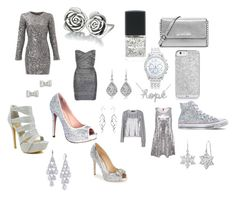 """""""Silver"""" by gizmolover11 on Polyvore featuring Slate & Willow, Chamilia, Marc by Marc Jacobs, Celeste, Lane Bryant, WithChic, MICHAEL Michael Kors, Lauren Lorraine, Love Moschino and Carolee"""