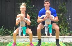 Yep, This Mom Got Fit Using Her Twins as Dumbbells