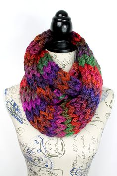 Winter Knit Snood Multicolor Snood Women Eternity by LocoTrends