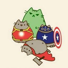Now all the kittens. Before New Year, left 4 days! Gato Pusheen, Pusheen Love, Kawaii Drawings, Cute Drawings, Chat Kawaii, 4 Panel Life, Nyan Cat, Hamster, Cute Cats And Dogs