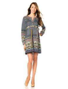 Hale Bob Long Sleeve Sash Belt Maternity Dress