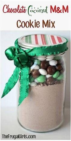 Chocolate Coconut M&M Cake Mix in a Jar