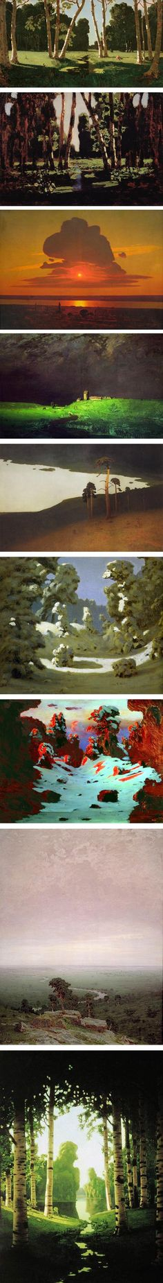 Love the bold compositions of  Arkhip Ivanovich Kuindzhi-- 1870s, feels 50 years too early!