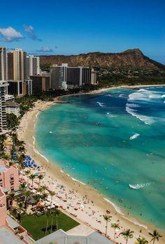 Waikiki, Hawaii - The view from the Sheraton Waikiki #hawaiibeachesawesome