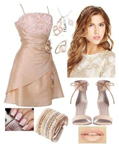 """""""Pink with a hint of gold"""" by hopeyjay ❤ liked on Polyvore"""