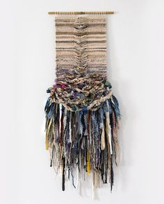 CROSSING THREADS, handwoven, weaving, tapestry, tissage, woven wall hanging, fiber art, wool