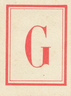 G is for...