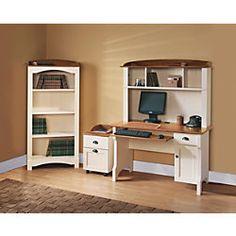 Small Room Desk, Desk In Living Room, Desks For Small Spaces, Computer Desk With Hutch, Desk Hutch, Built In Desk, Office Depot Desks, Home Office Desks, Home Office Furniture