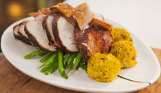 Pork with Spiced Stuffing Balls and Garlic Beans | Good Chef Bad Chef