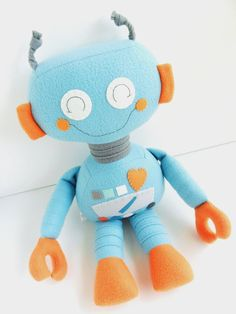 Robot  Ragdoll for Kids  Toys  Baby & Toddler  by 2dancingdogs, $60.00