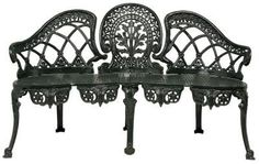 Black Victorian Cast Iron Outdoor Furniture. perfect for a black garden