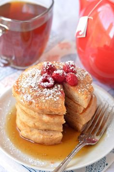 Whole Wheat Greek Yogurt Pancakes via @Erica Cerulo Cerulo {Coffee & Quinoa}