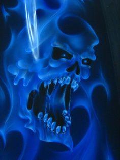 Blue Flaming Skull | Flaming Skull photo blue20skull20fire203.jpg