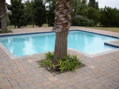 Tumbled 3 pc Dublin Cobble Concrete Paver Pool Deck