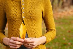 Benedetta $6.50 Cardigan is worked from the top down. Pattern includes instructions for both long and 3/4 sleeves and long and short body lengths.