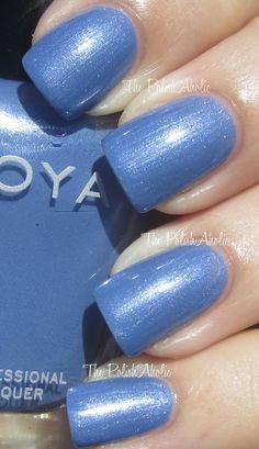 zoya - jo Zoya Collection, Nail Polish Collection, Pretty Nail Colors, Pretty Nails, Mani Pedi, Pedicure, Blue Nail Polish, All Things Beauty, Cute Nails