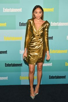 Ashley Madekwe in Saint  Laurent - Your Guide to the Best Fashion Moments at Comic-Con via @WhoWhatWear