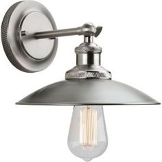 Progress Lighting, Archives Collection 1-Light Antique Nickel Wall Sconce, P7156-81 at The Home Depot - Mobile