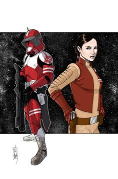 Commanders and Generals: Fox and Padme COLOR by Hodges-Art on deviantART