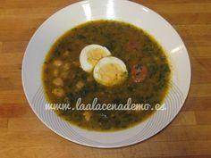 Potaje rápido de garbanzos con thermomix. Receta disponible en el blog. Food N, Good Food, Palak Paneer, Soups And Stews, Beans, Ethnic Recipes, Ham Recipes, Tan Solo, Blog