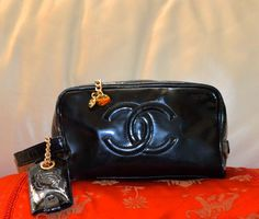 Authentic, Very Nice Vintage Chanel Multi Function Clutch Bag.