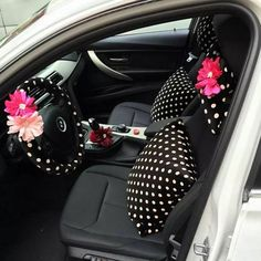 """Nowadays not only man can modify their cars. Where can a girl, who absolutely loves her car too much, shop for the girlyand statement-makingset of seat covers, steering covers, back seat organizer, or even car trash cansfor it, which are girlyand unique? Carsoda.com has a wide range of appealing options for those who wish to purchase girly car accessories.With girls today wanting to """"bling their ride"""", a wide range of pretty, cute, bling, sparkly, loud, neon, funky, (and any other…"""