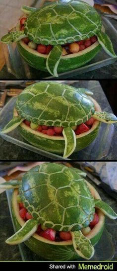 Turtle fruit salad, so cute!!