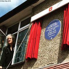 Brian at window - Freddie's House - FREDDIE'S BLUE PLAQUE UNVEILING CEREMONY