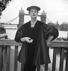 Ciao Bellissima - Vintage Glam; Model wearing Digby Morton, photo by John French, 1951
