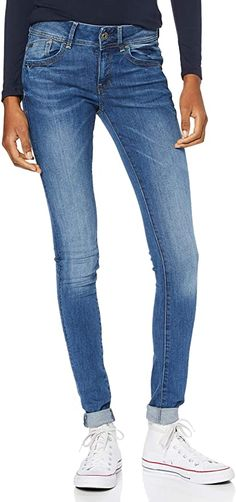 Keine Zweifel!  Bekleidung, Damen, Jeanshosen Raw Denim, G Star Raw, Outfit, Skinny Jeans, Stars, Cotton, Pants, Blue, Collection