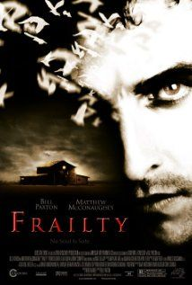 """Frailty : A father and two preteen sons go killing people marked as """"demons"""" by God,. Thriller with a good twist in the end.The two boys gave amazing performances."""