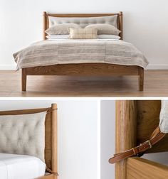 Amber Interiors-cushion on wood headboard