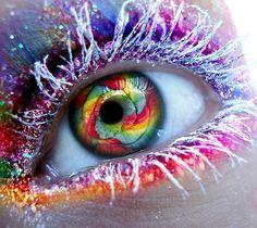 rainbow look #makeup #eye