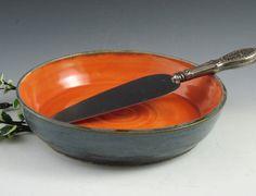 Stoneware / Ceramic Pie Plate / Shallow Baker love. & Handmade pie plate pie dish stoneware pie plate pie pan   Pie ...