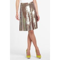 BCBGMAXAZRIA - SHOP BY CATEGORY: SALE: VIEW ALL SALE: EDNA SEQUINED PLEATED SKIRT