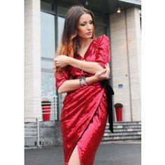 Amazing Red Sequin Dress! Rochie din paiete rosii perfecta pentru evenimentele de seara! Sari, Sequins, Fashion, Saree, Moda, Fashion Styles, Fashion Illustrations, Saris, Sari Dress