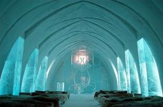 This hotel looks like an ice cathedral!   #travelticker #travel #unusualhotels