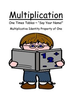 FREEBIE! Fern Smith's Center Game ~ Multiplication One (1) Times Tables ~ 52 Pages! Multiplicative Identity Property of One at TPT! FREE!