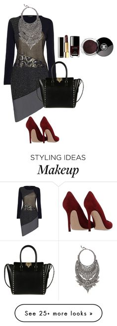 """""""Bourbon Plum"""" by theprettycanary12 on Polyvore featuring James Lakeland, DYLANLEX, Gianvito Rossi and Valentino"""