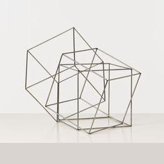 François MORELLET, Trois cubes imbriqués Inox soudé