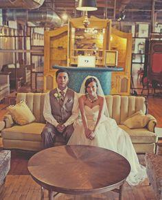 Artistic Chicago warehouse wedding