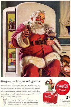 Santa illustration for Coca-Cola • Haddon Sundblom, 1947
