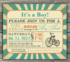 10 Awesome DIY Baby Shower Invitations for Boys   Disney Baby