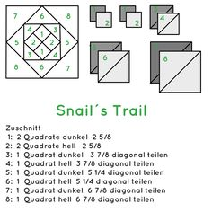 Zuschnitt Snails Trail 6Köpfe 12Blöcke Juli
