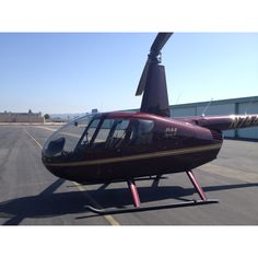 Our trusty chopper for the helicopter tour of LA!
