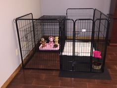 Puppy crate and playpen! … - Tap the pin for the most adorable pawtastic fur baby apparel! You'll love the dog clothes and cat clothes! Dog Playpen Indoor, Puppy Playpen, Puppy Pens, Puppy Room, Puppy Crate, Puppy Supplies, Puppy House, Dog Area, Dog Rooms