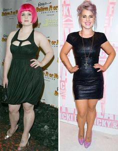 Kelly Osbourne. Before after weight loss. Awesome inspiration. She went through so much and brought herself back out of the darkness.